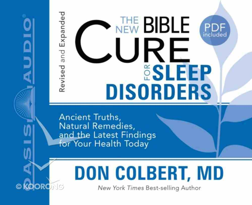 For Sleep Disorders (Unabridged, 2 CDS) (The New Bible Cure Series) CD