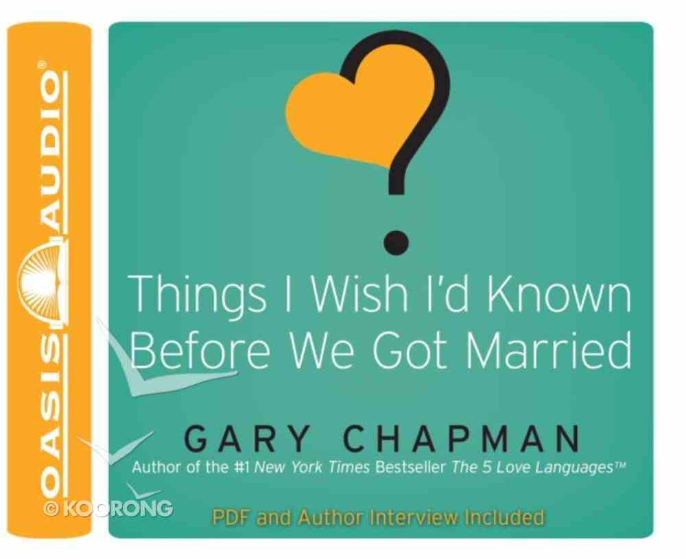 Things I Wish I'd Known Before We Got Married CD