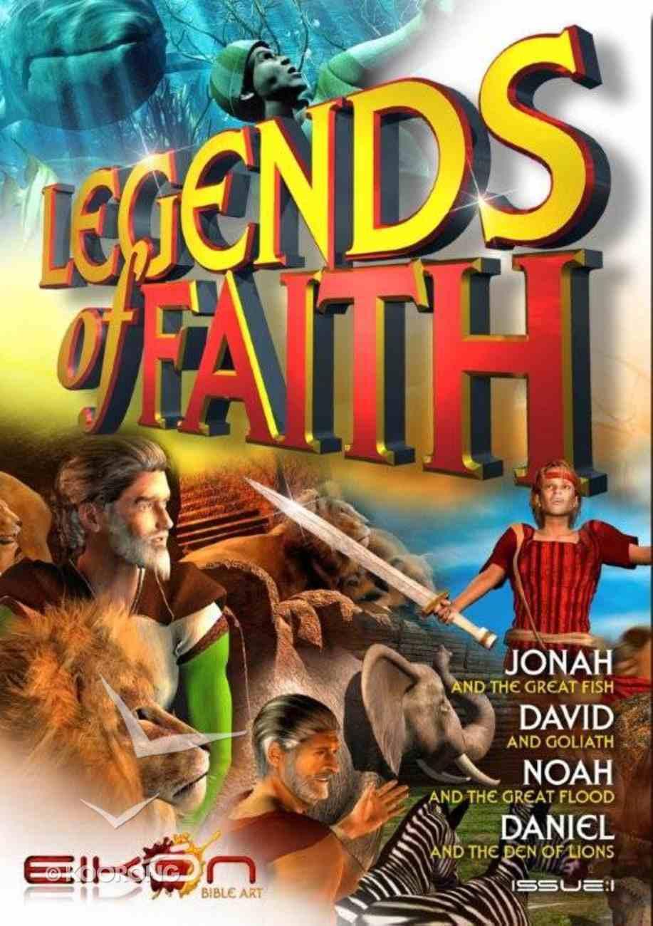 Jonah, David, Noah, Daniel (#01 in Legends Of Faith Comic Book Series) Paperback