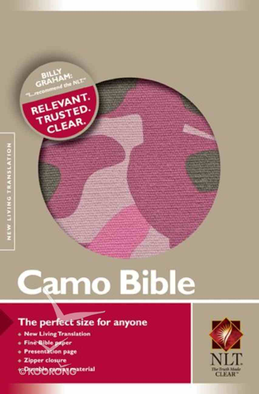 NLT Compact Canvas Camo Pink With Zipper (Black Letter Edition) Fabric
