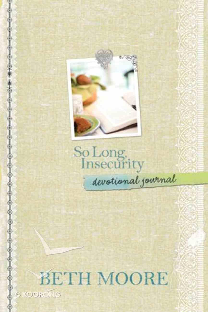 So Long, Insecurity Devotional Journal Hardback