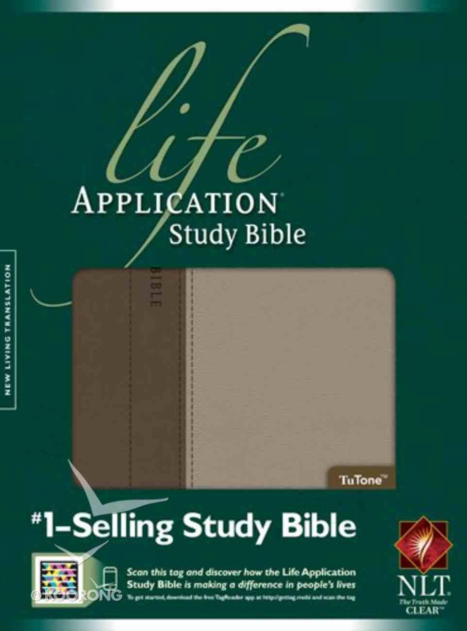 NLT Life Application Study Bible Taupe Stone Thumb-Indexed Imitation Leather