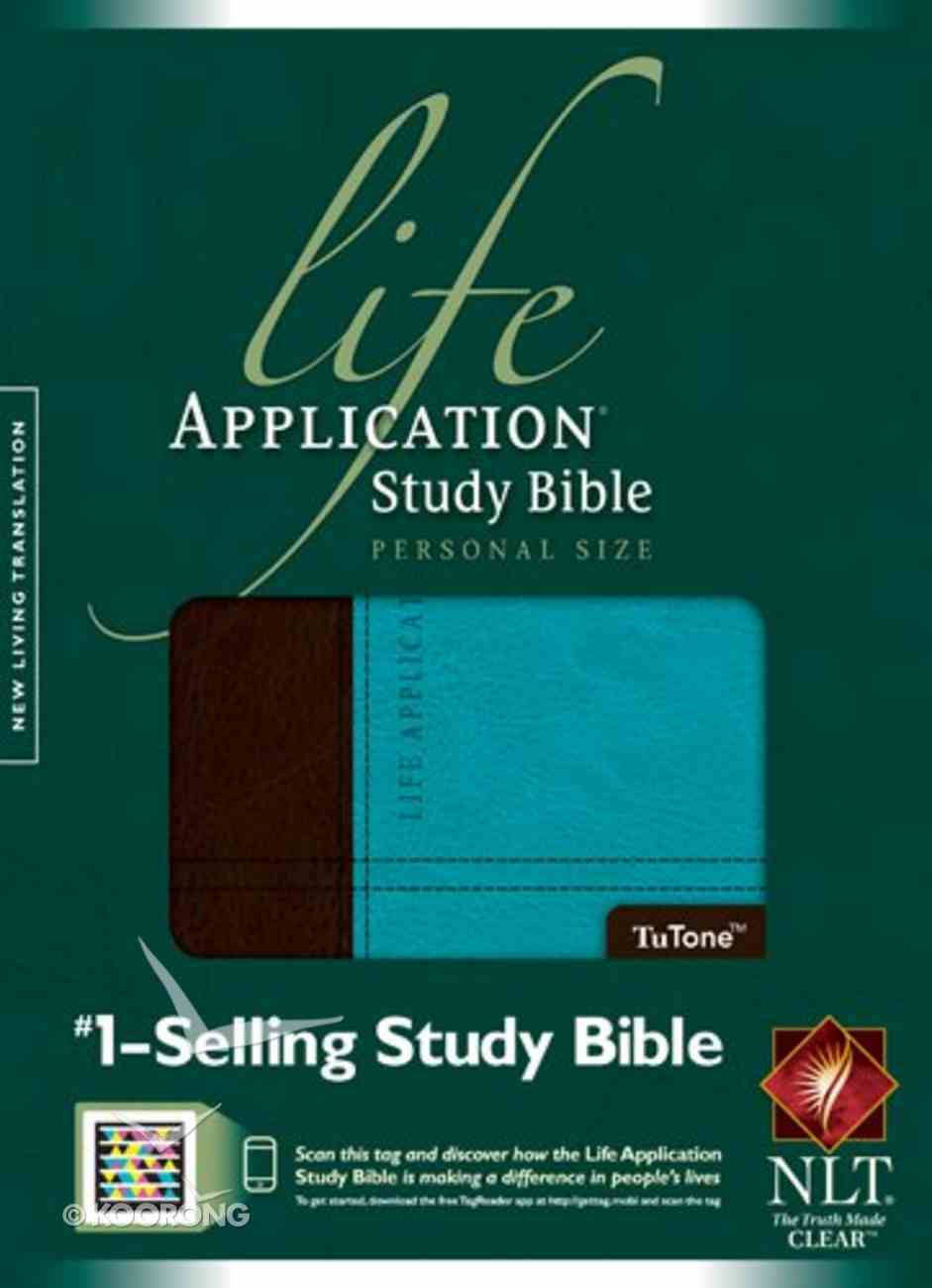 NLT Life Application Study Bible Personal Size Dark Brown/Teal (Black Letter Edition) Imitation Leather