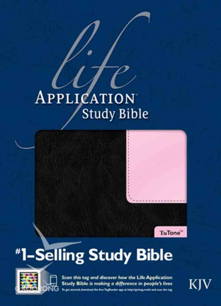 KJV Life Application Study Bible Black/Patent Leather Pink (Red Letter Edition) Imitation Leather