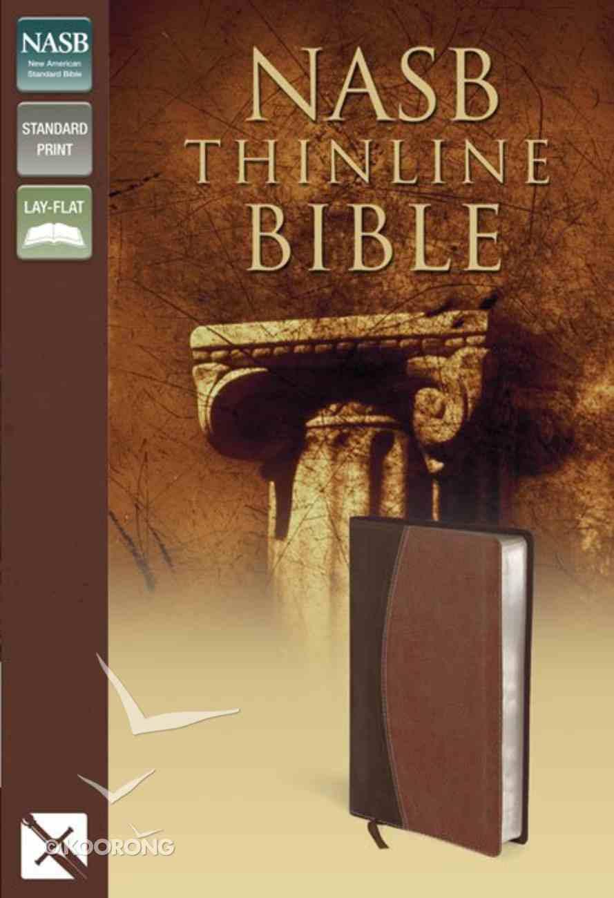 NASB Thinline Mahogany/Chocolate (Red Letter Edition) Premium Imitation Leather