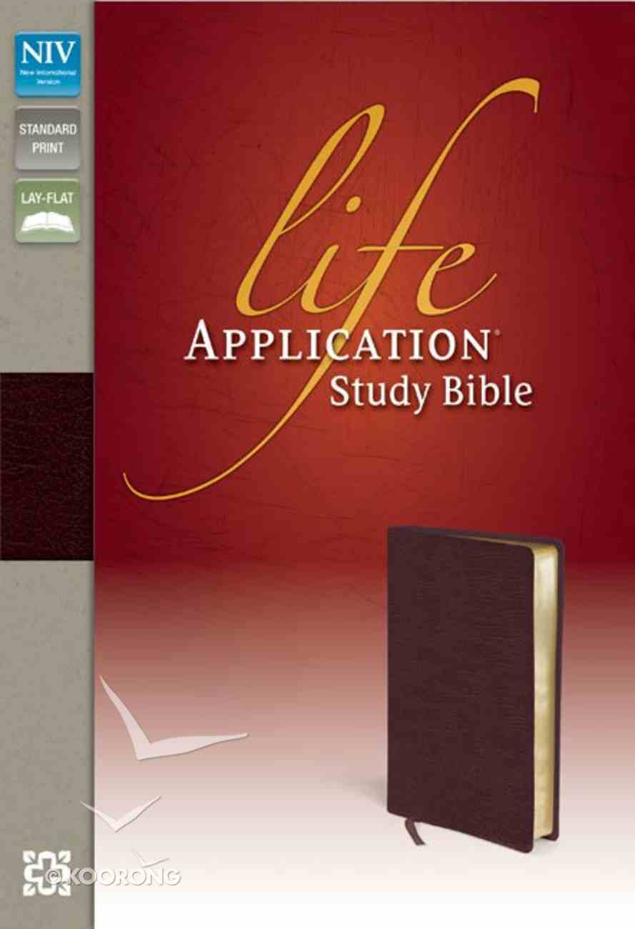 NIV Life Application Study Bible Burgundy (Red Letter Edition) Bonded Leather