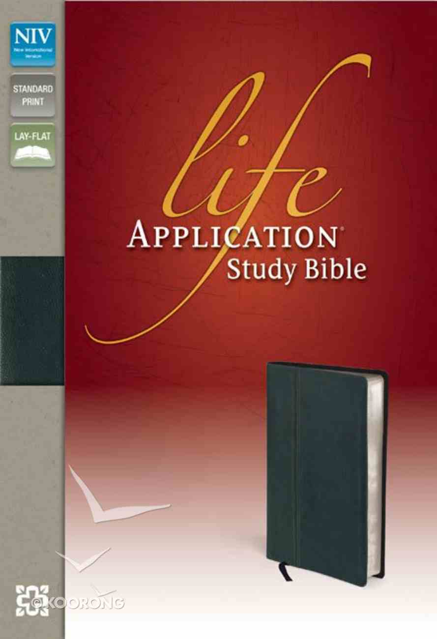 NIV Life Application Study Ebony (Red Letter Edition) Genuine Leather