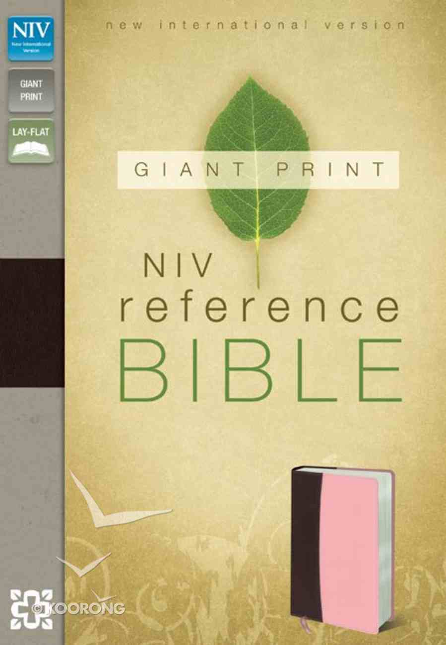 NIV Giant Print Reference Bible Burgundy Pink (Red Letter Edition) Premium Imitation Leather