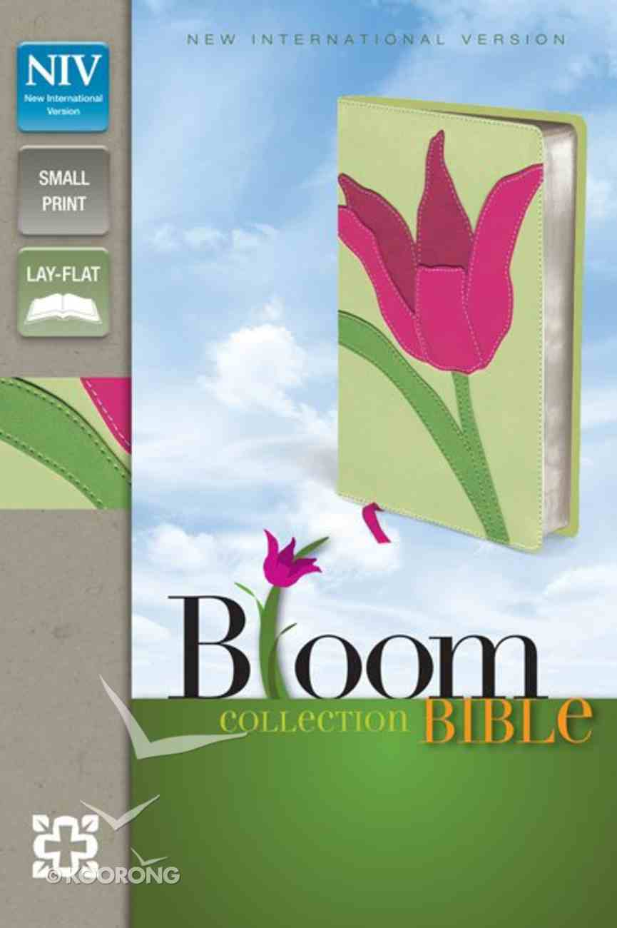 NIV Compact Thinline Bloom Bible Tulip (Red Letter Edition) Premium Imitation Leather