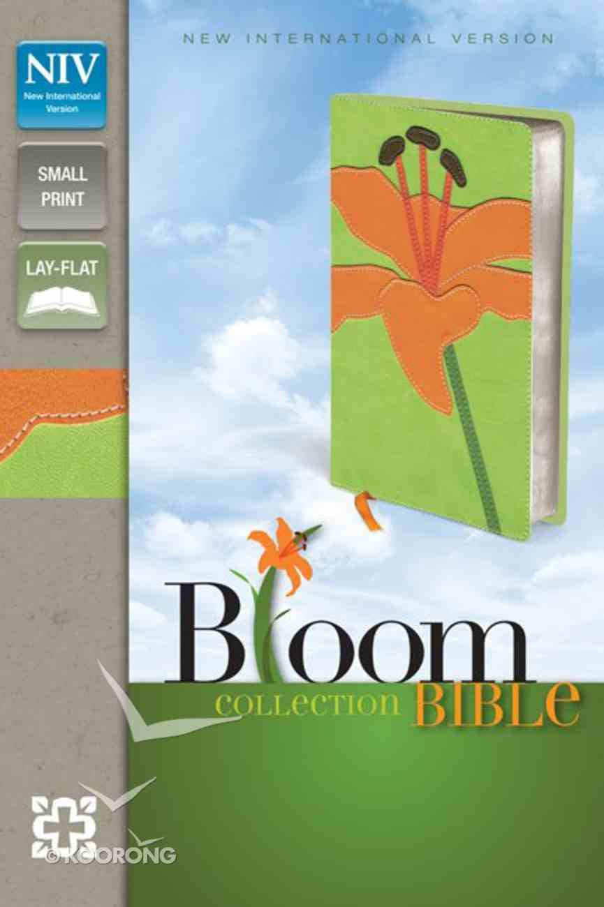 NIV Compact Thinline Bloom Bible Tiger Lily Duo-Tone (Red Letter Edition) Imitation Leather