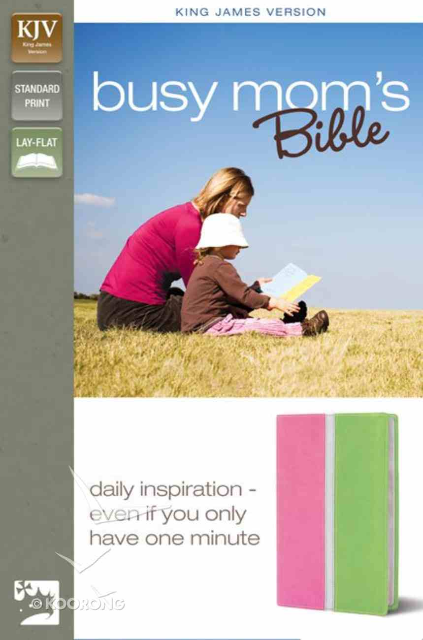 KJV Busy Mum's Bible Pink/Spring Green (Red Letter Edition) Imitation Leather