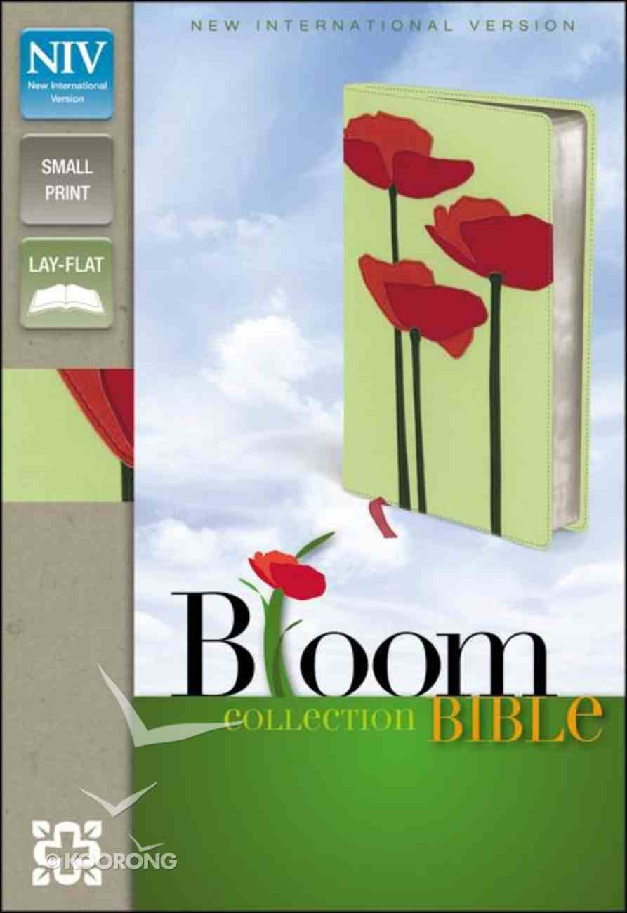 NIV Compact Thinline Bloom Bible Red Poppies (Red Letter Edition) Premium Imitation Leather