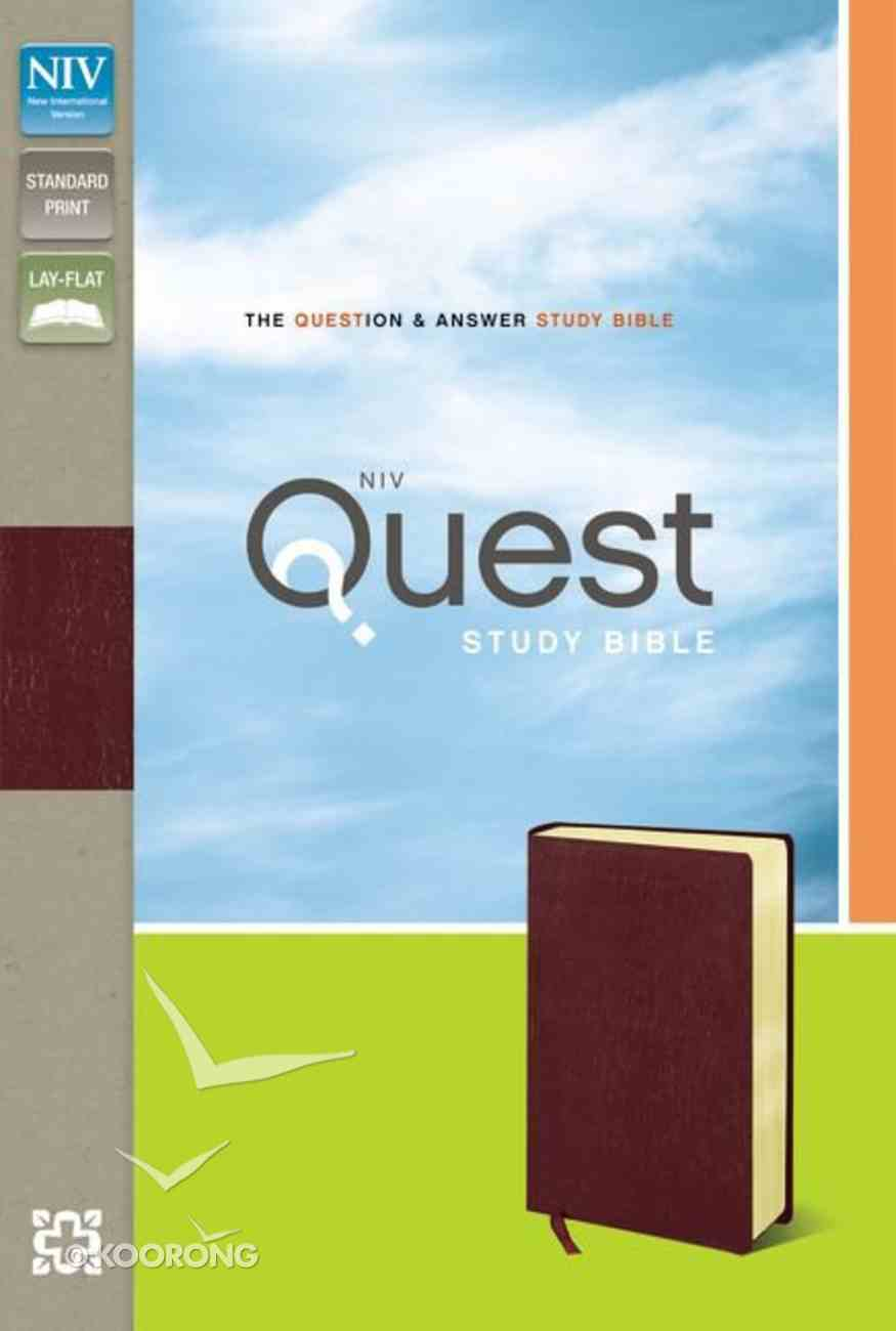 NIV Quest Standard Study Bible Burgundy Bonded Leather