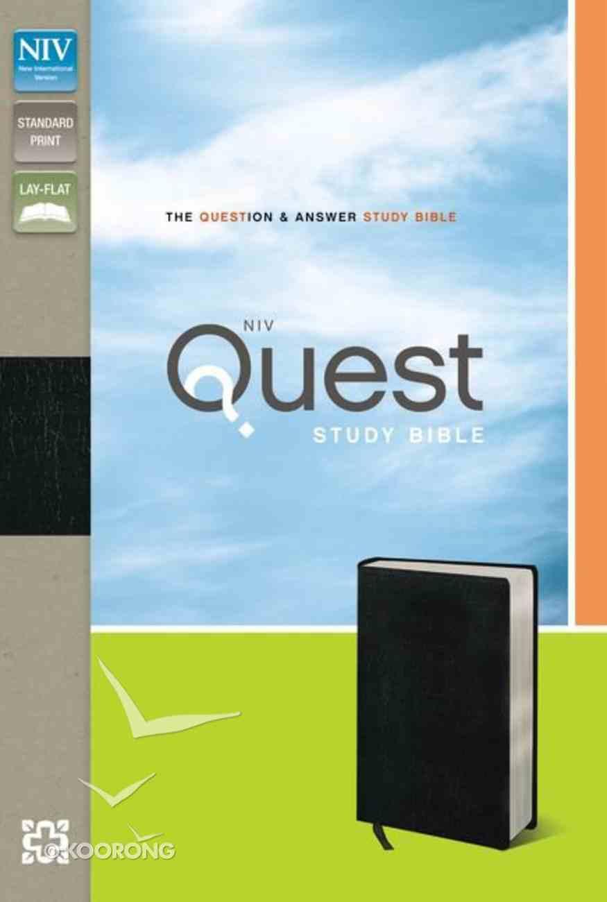 NIV Quest Standard Study Bible Black Bonded Leather