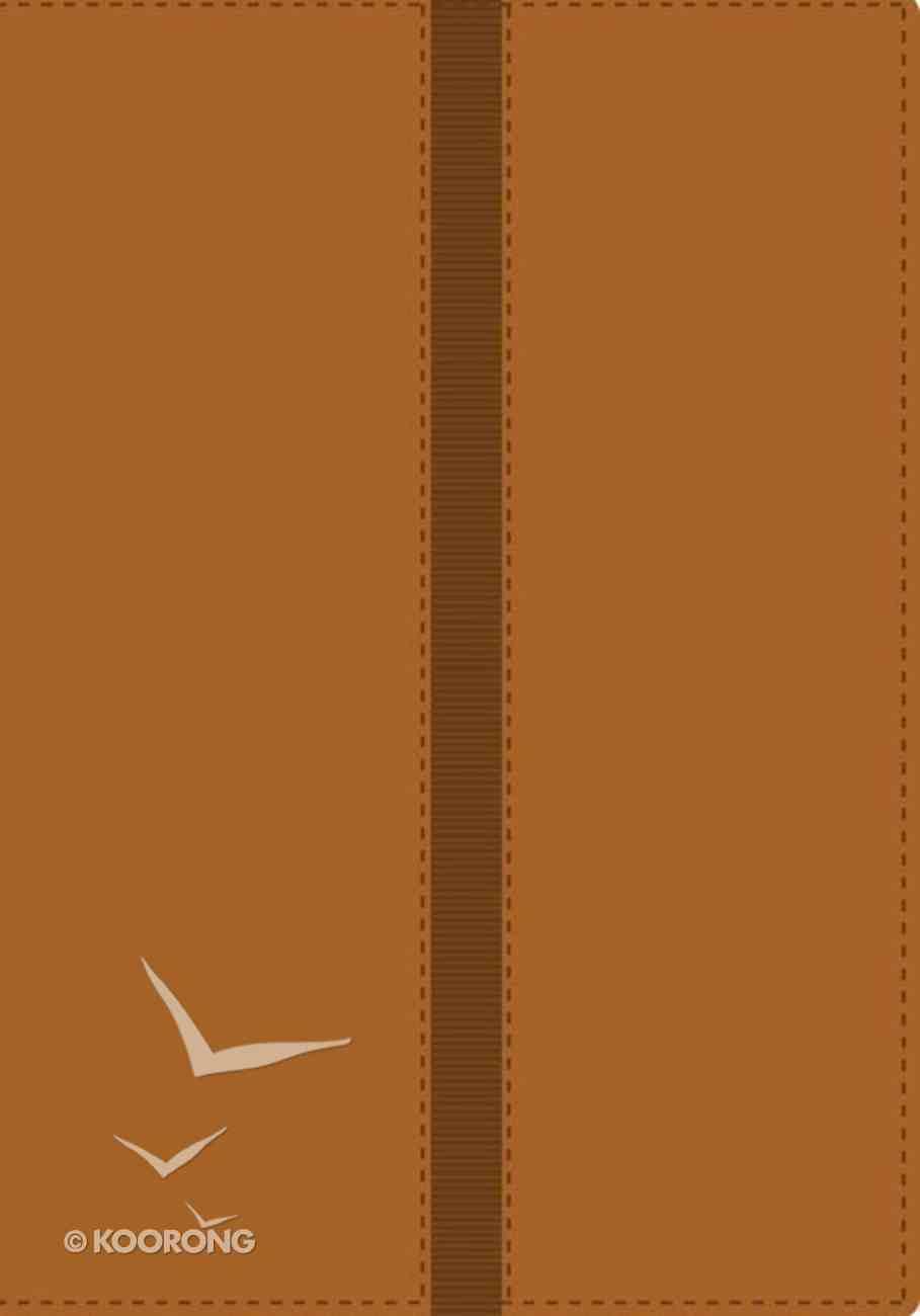 Nvi Biblia De Referencia Thompson Brown/Tan Italian Duo-Tone (Red Letter Edition) (Nvi) Imitation Leather
