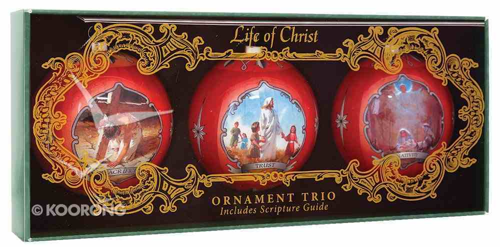 Christmas Ball Ornament Set of 3: Life of Christ Homeware