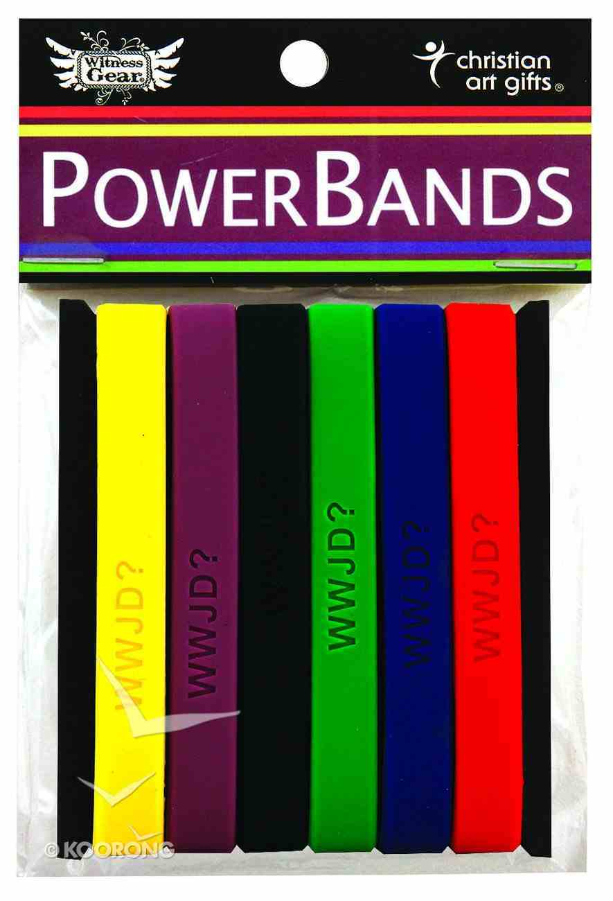 Silicon Wwjd Wristband Pack of 6 Colours Novelty