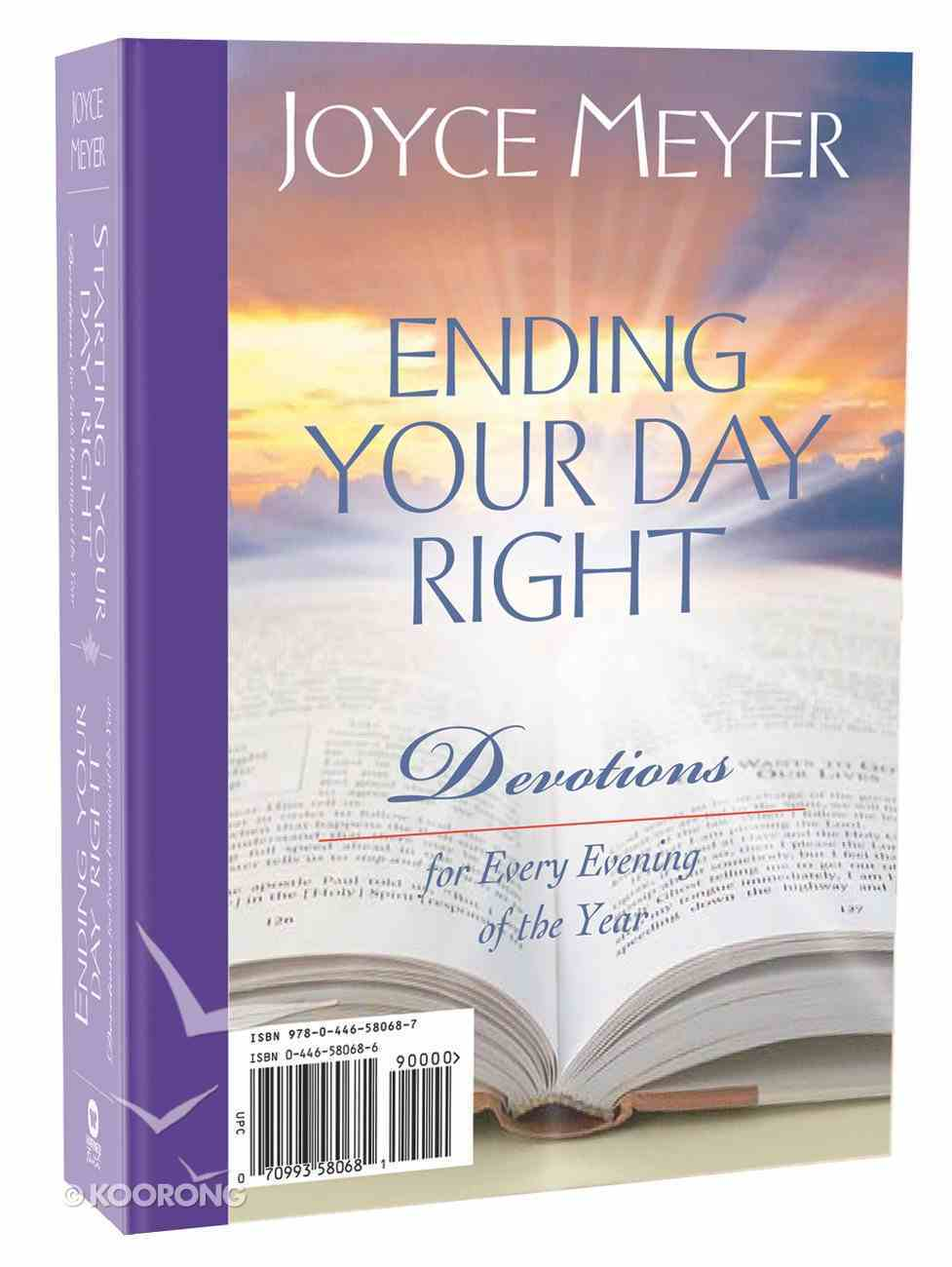 Starting Your Day Right Ending Your Day Right 2-In-1 Devotional Hardback