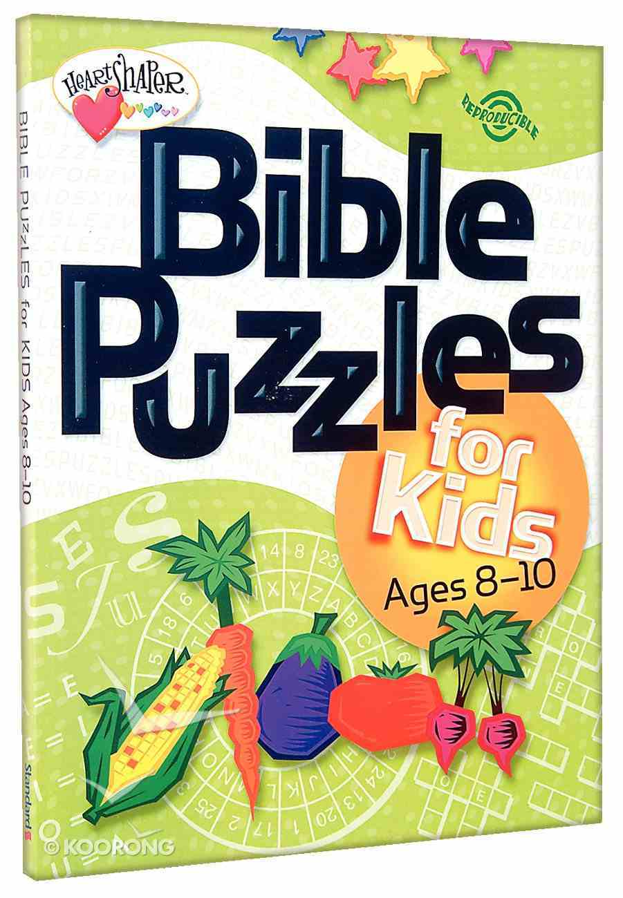 Bible Puzzles For Kids (Ages 8-10) (Heartshaper Series) Paperback