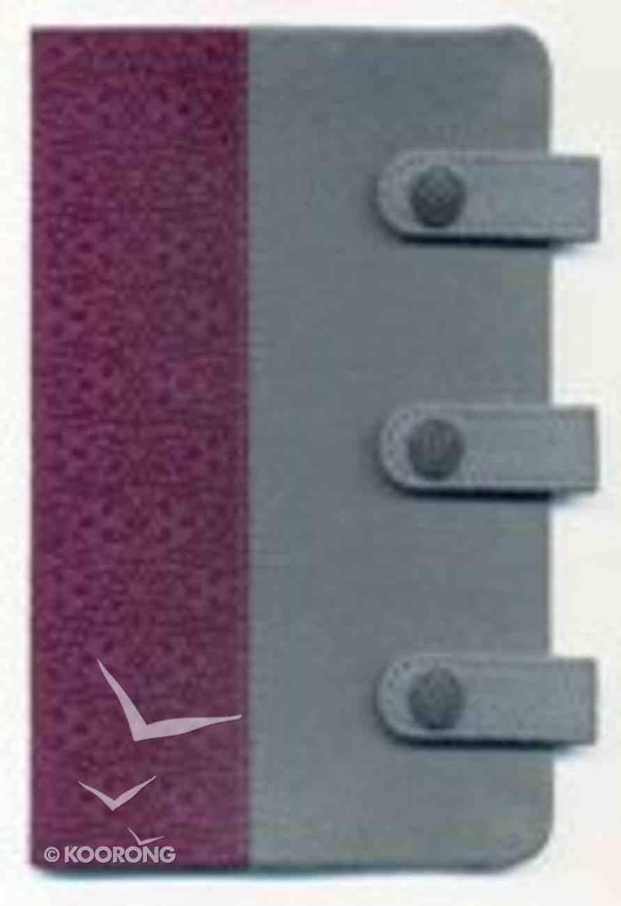NKJV Compact Ultraslim Bible Designer Series Gray/Plum Flexi Back