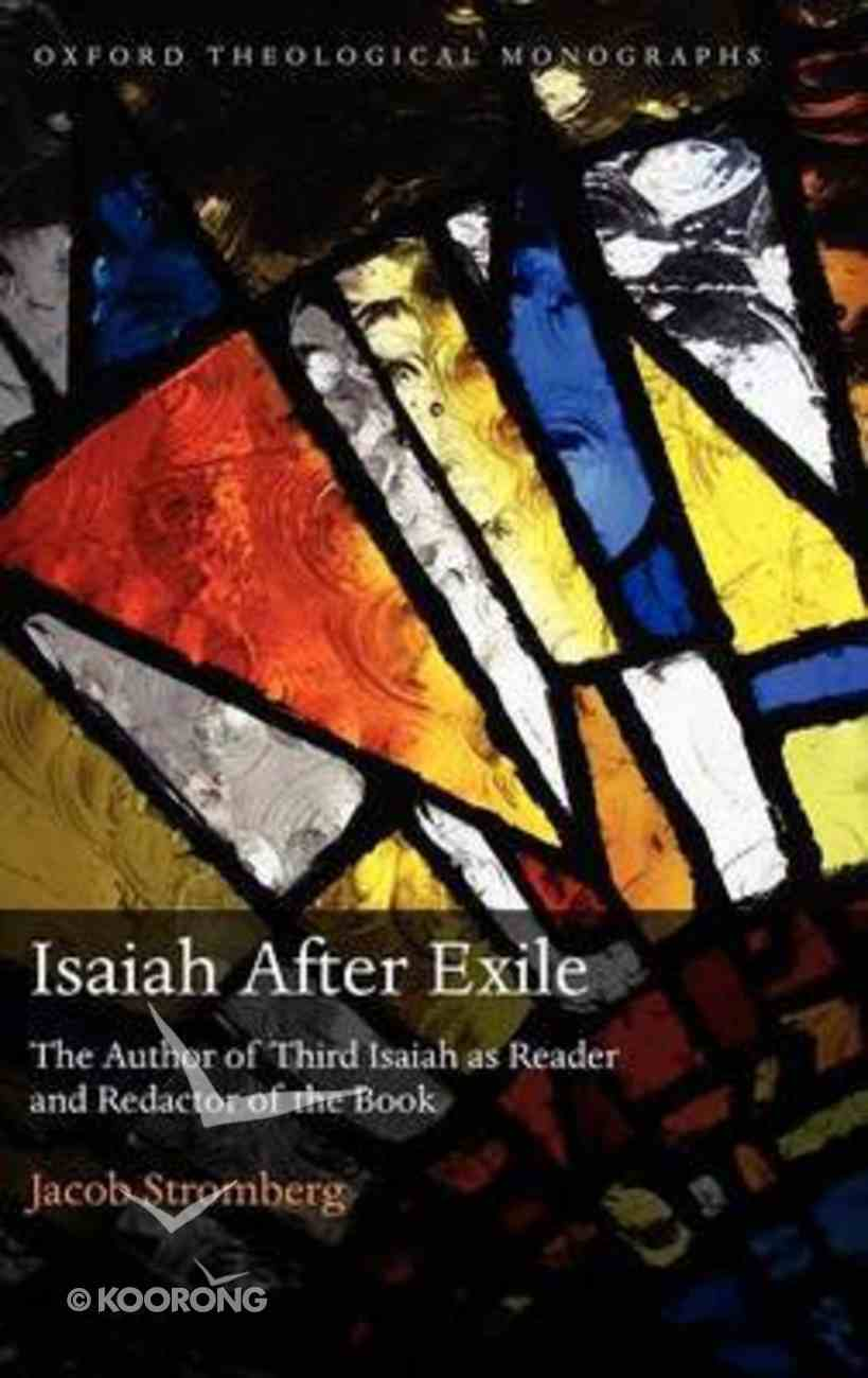 Isaiah After Exile Hardback