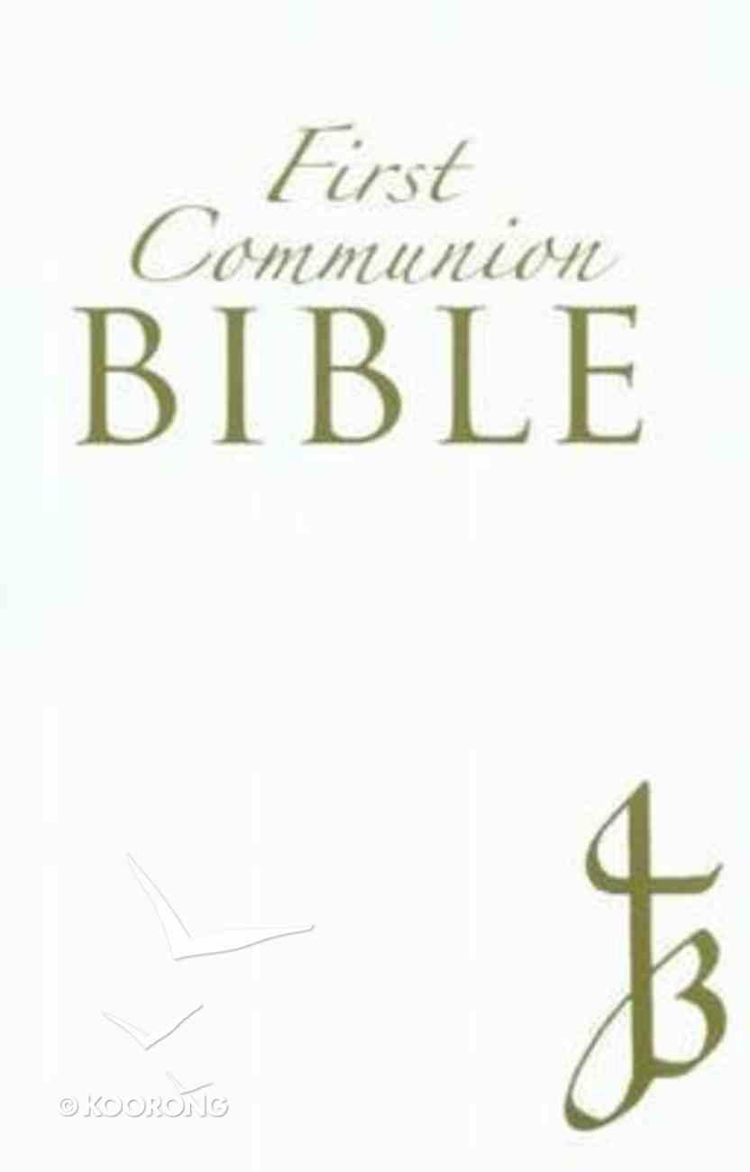 New Jerusalem First Communion Bible Leather White Imitation Leather