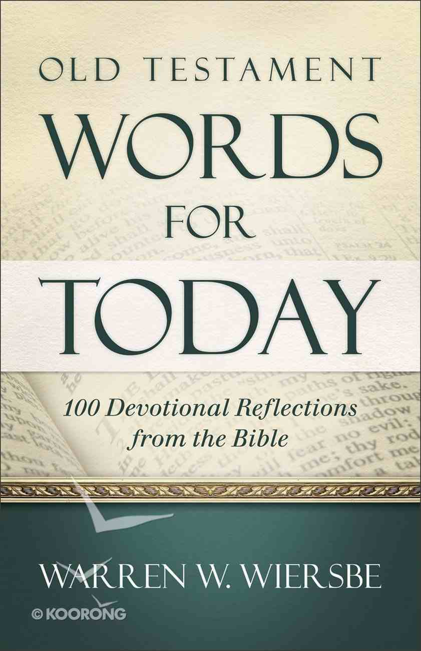 Old Testament Words For Today Paperback