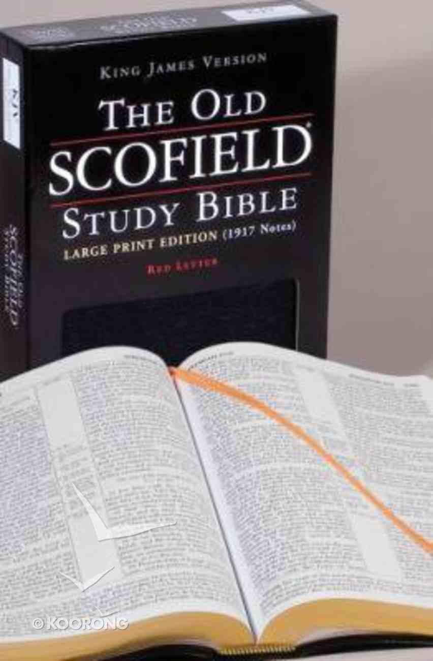 KJV Old Scofield Study Large Print (Red Letter Edition) Bonded Leather