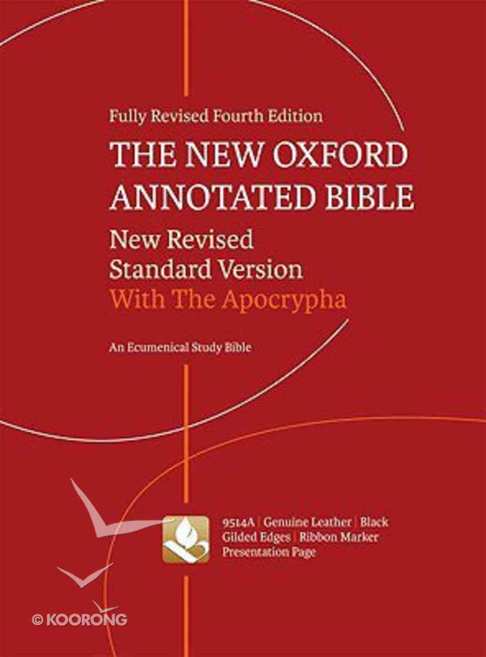 NRSV New Oxford Annotated Bible Black Indexed (4th Edition) Genuine Leather