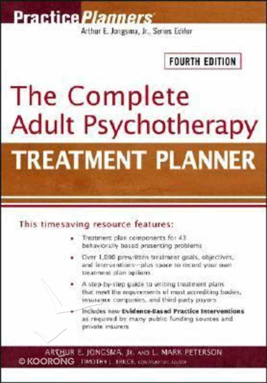 The Complete Adult Psychotherary Treatment Planner Paperback