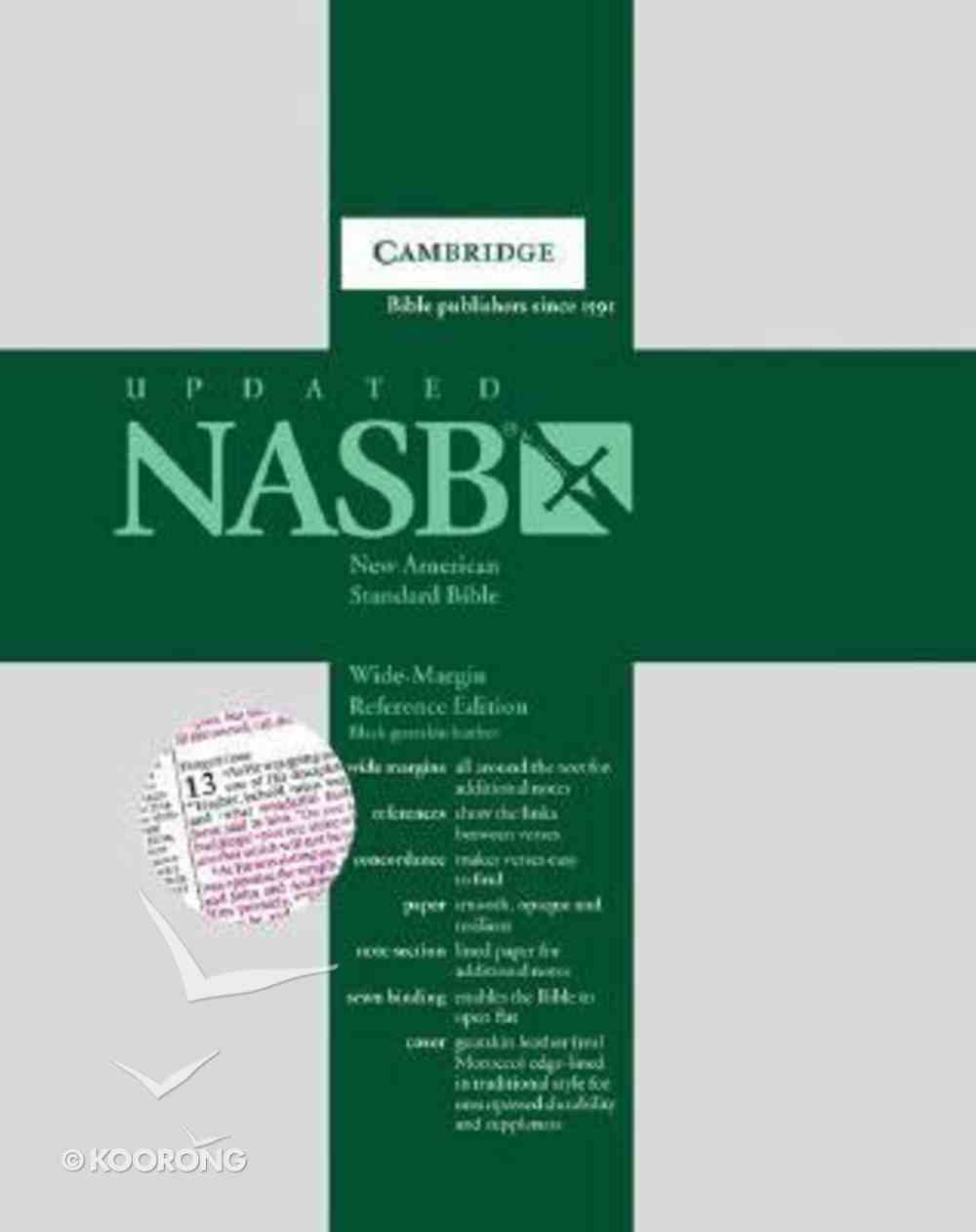NASB Wide-Margin Reference Black French Morocco Leather (Red Letter Edition) Morocco Leather (Sheepskin)