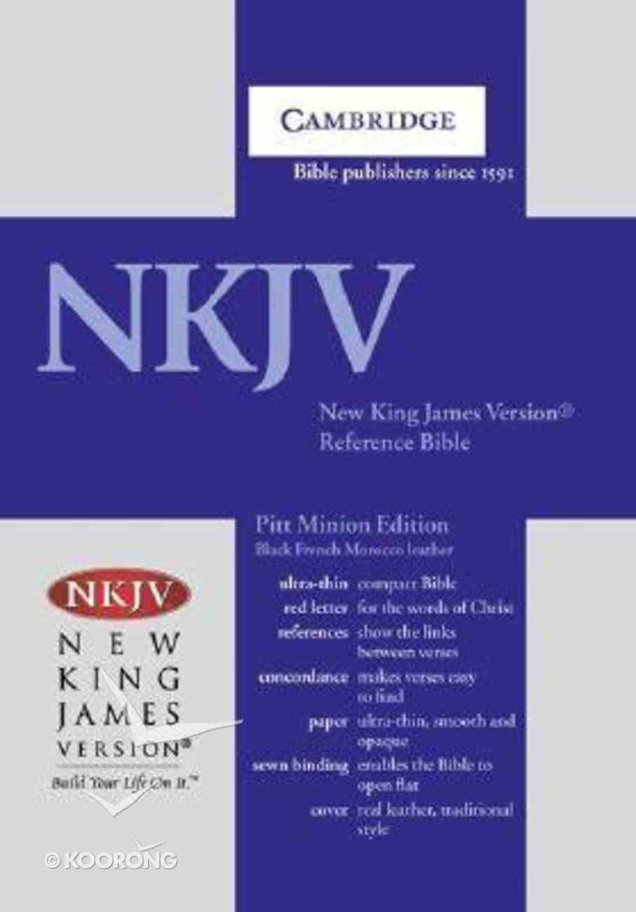 NKJV Pitt Minion Reference Bible Anglicised Edition Black French Morocco (Red Letter Edition) Morocco Leather (Sheepskin)