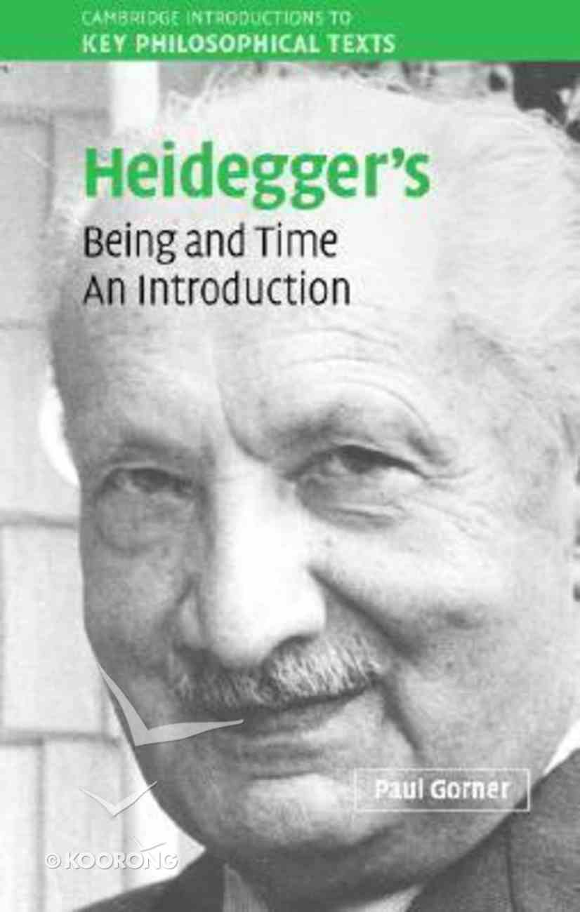 Heidegger's Being and Time Hardback