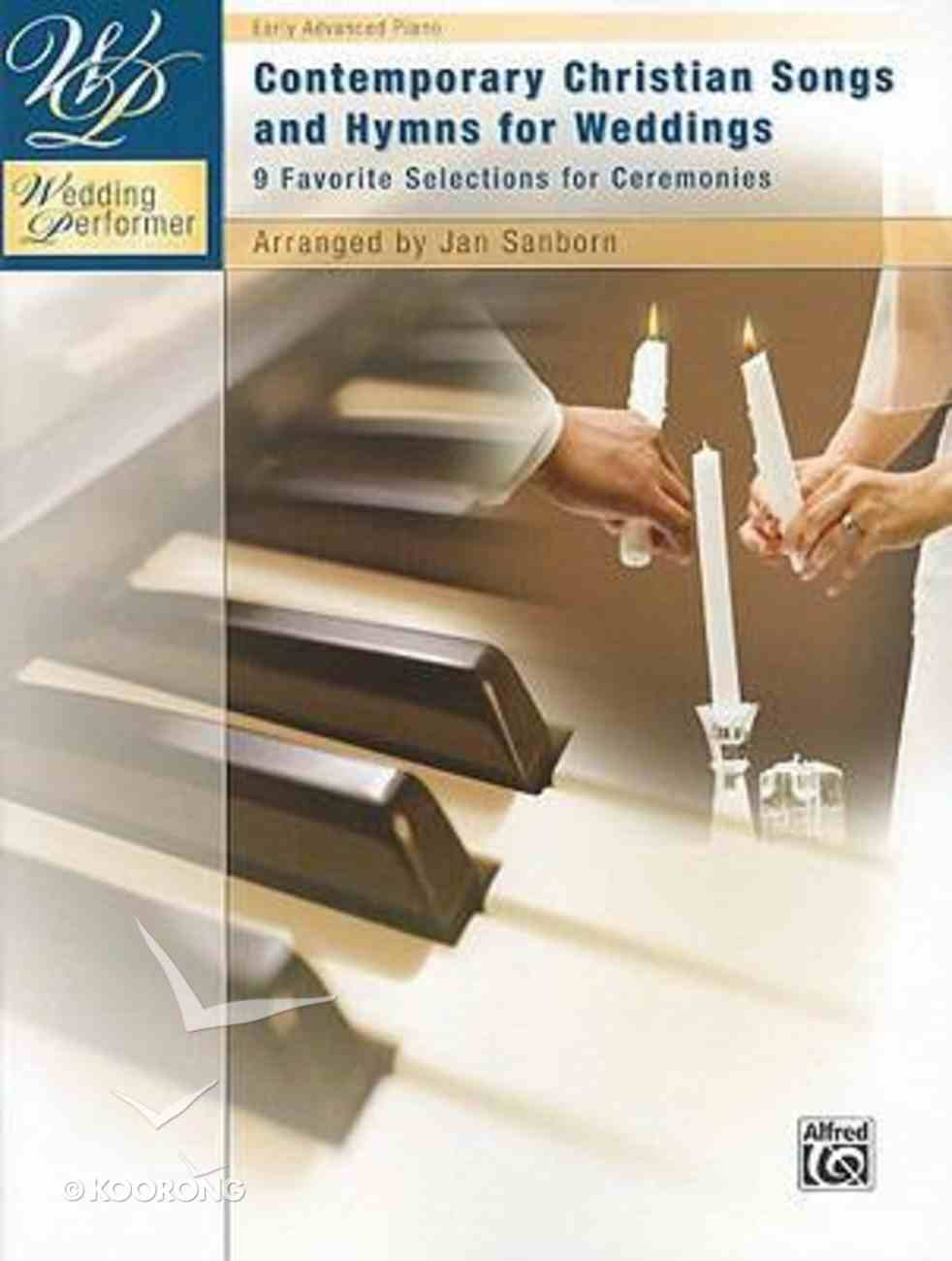 Contemporary Christian Songs and Hymns For Weddings (Music Book) Paperback