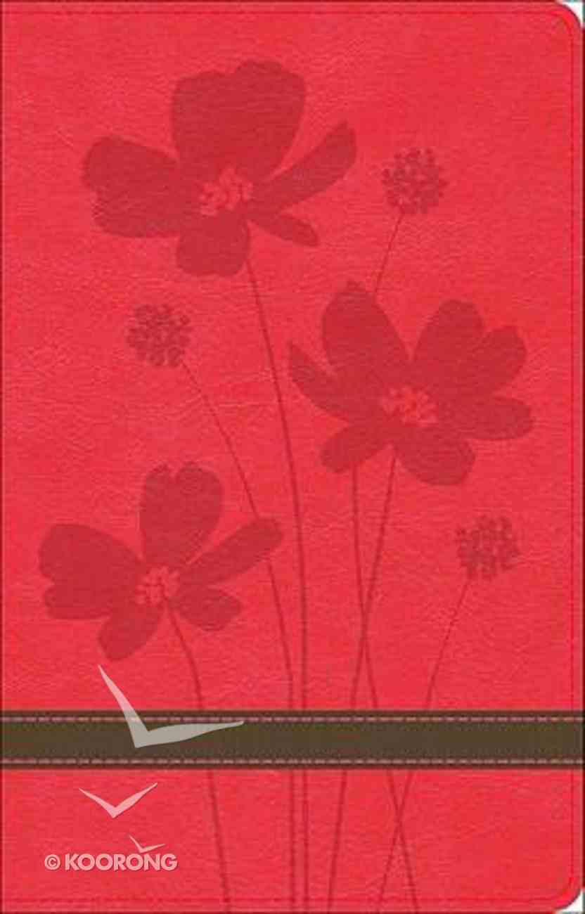 God's Word Thinline Bible Rose/Brown Flower Design Imitation Leather