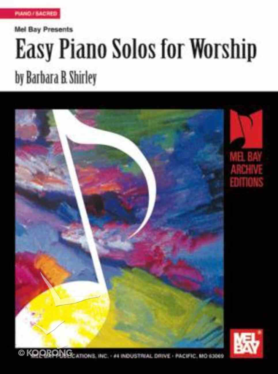 Easy Piano Solos For Worship (Music Book) Paperback