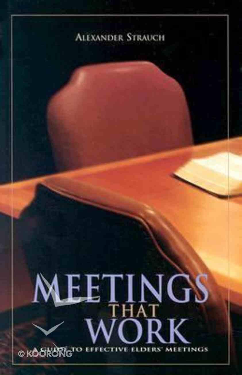 Meetings That Work Paperback