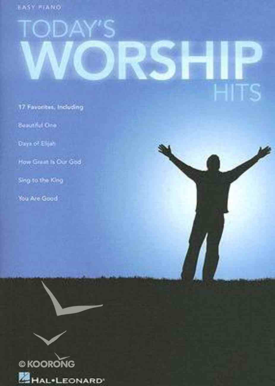 Today's Worship Hits Music Book Paperback