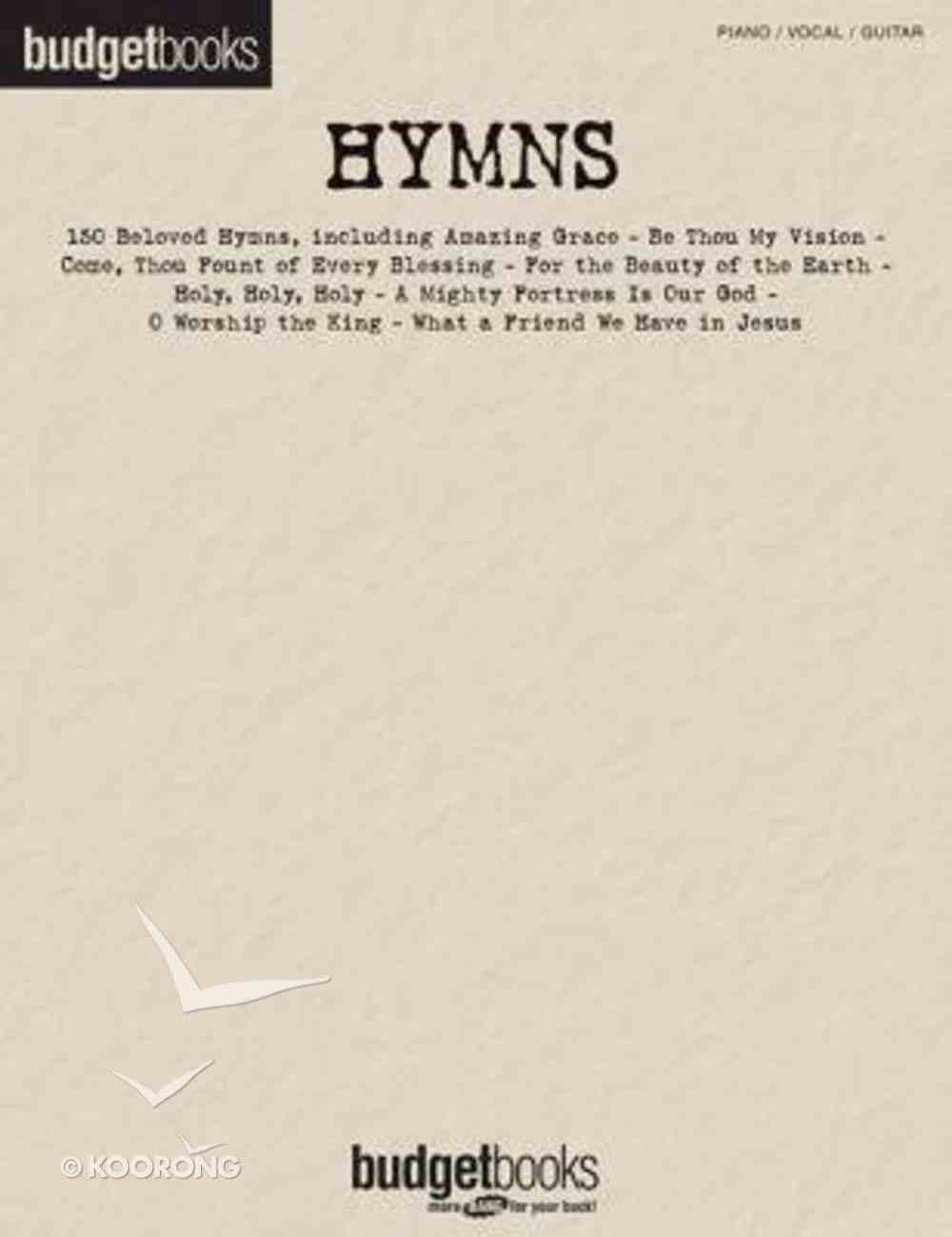 Hymns: Piano/Vocal/Guitar Paperback