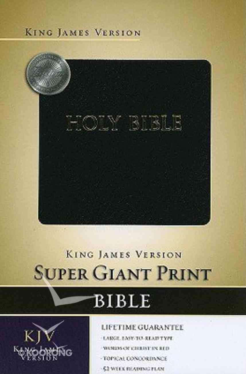 KJV Super Giant Print Black Bonded Leather