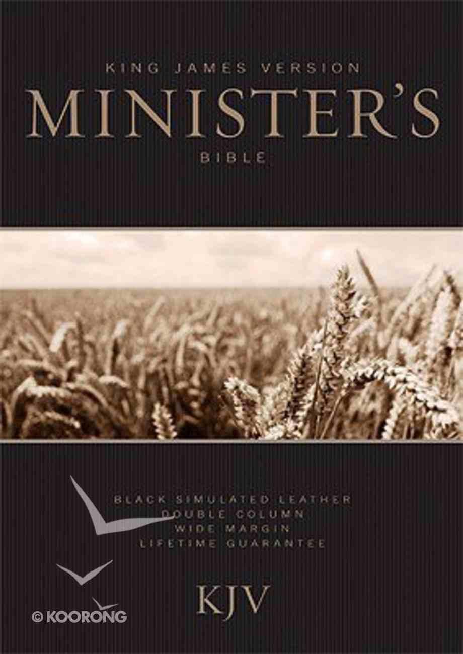 KJV Ministers Bible Black Imitation Leather