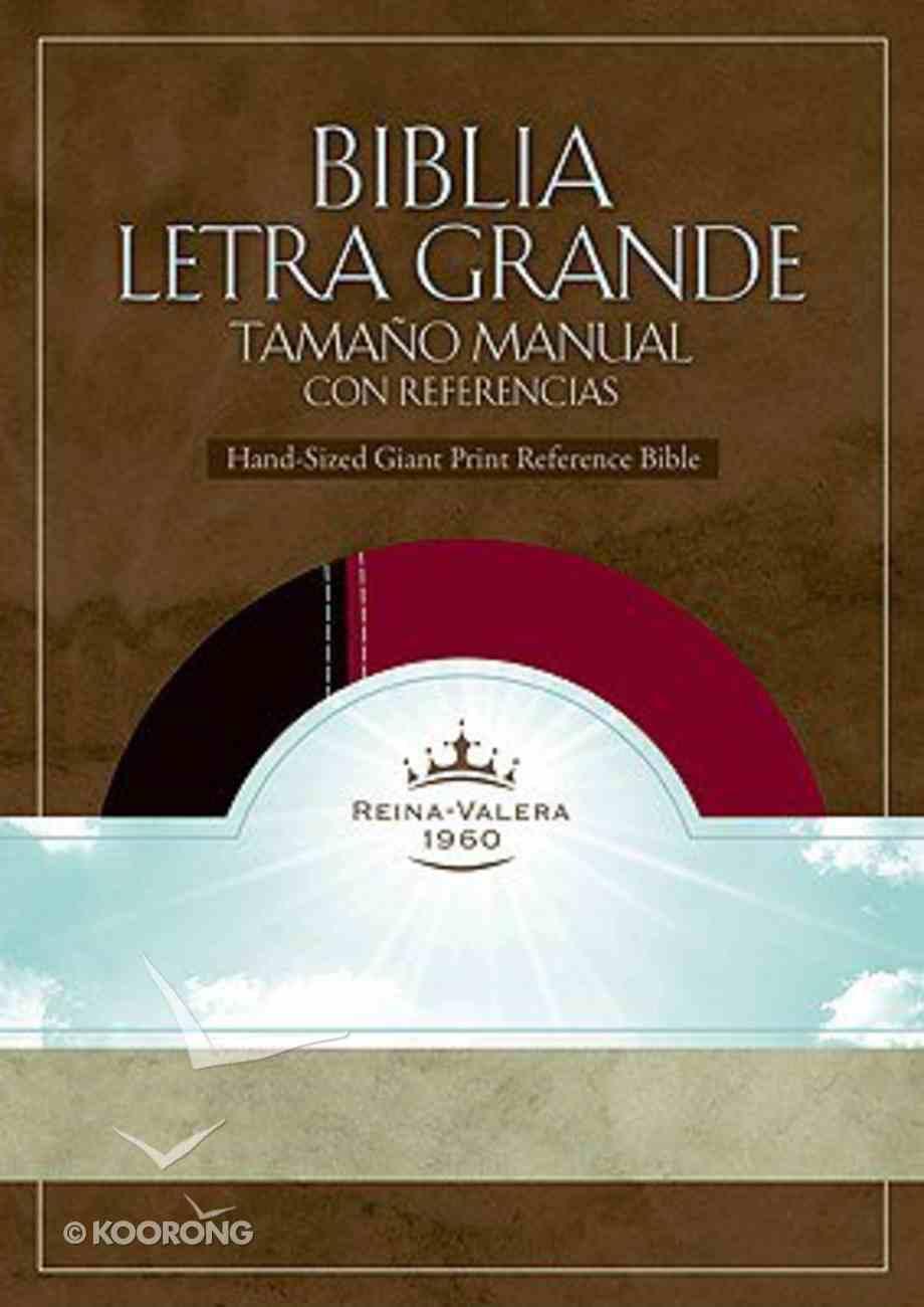 Biblia Letra Grande Tamano Manual Co Referencias Black and Burgundy (Reference) Imitation Leather