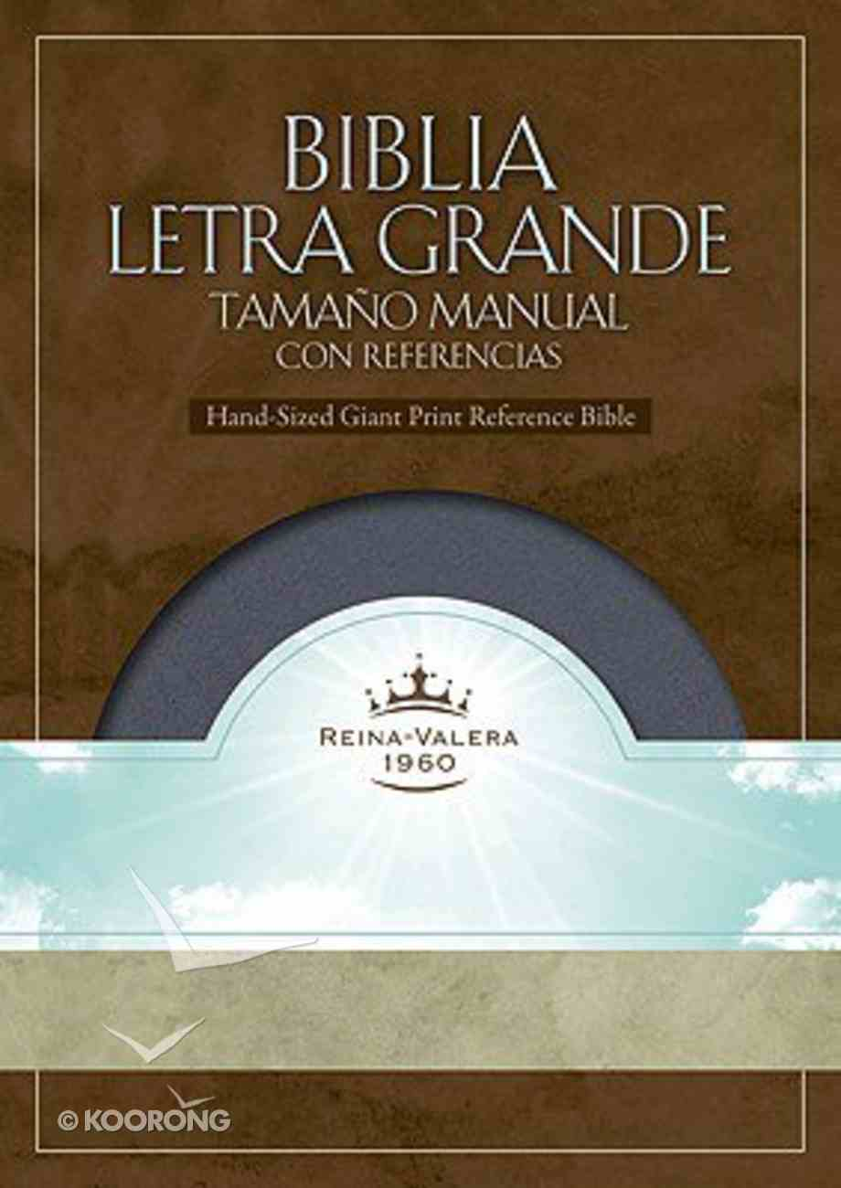 Biblia Letra Grande Tamano Manual Co Referencias Spanish Grey Imitation Leather