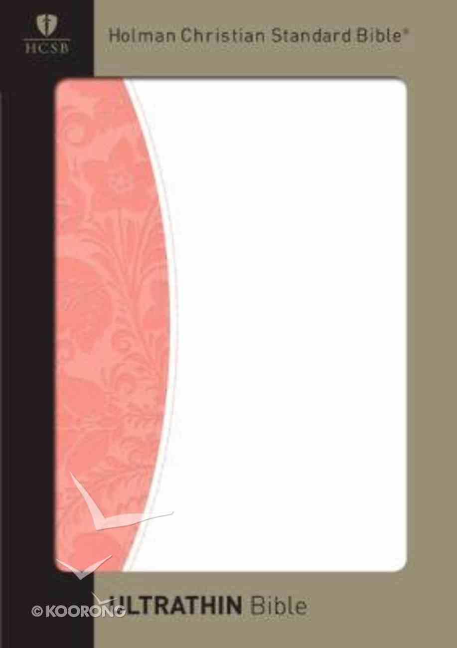HCSB Ultrathin Bible Blush/White Duotone Simulated Leather Imitation Leather