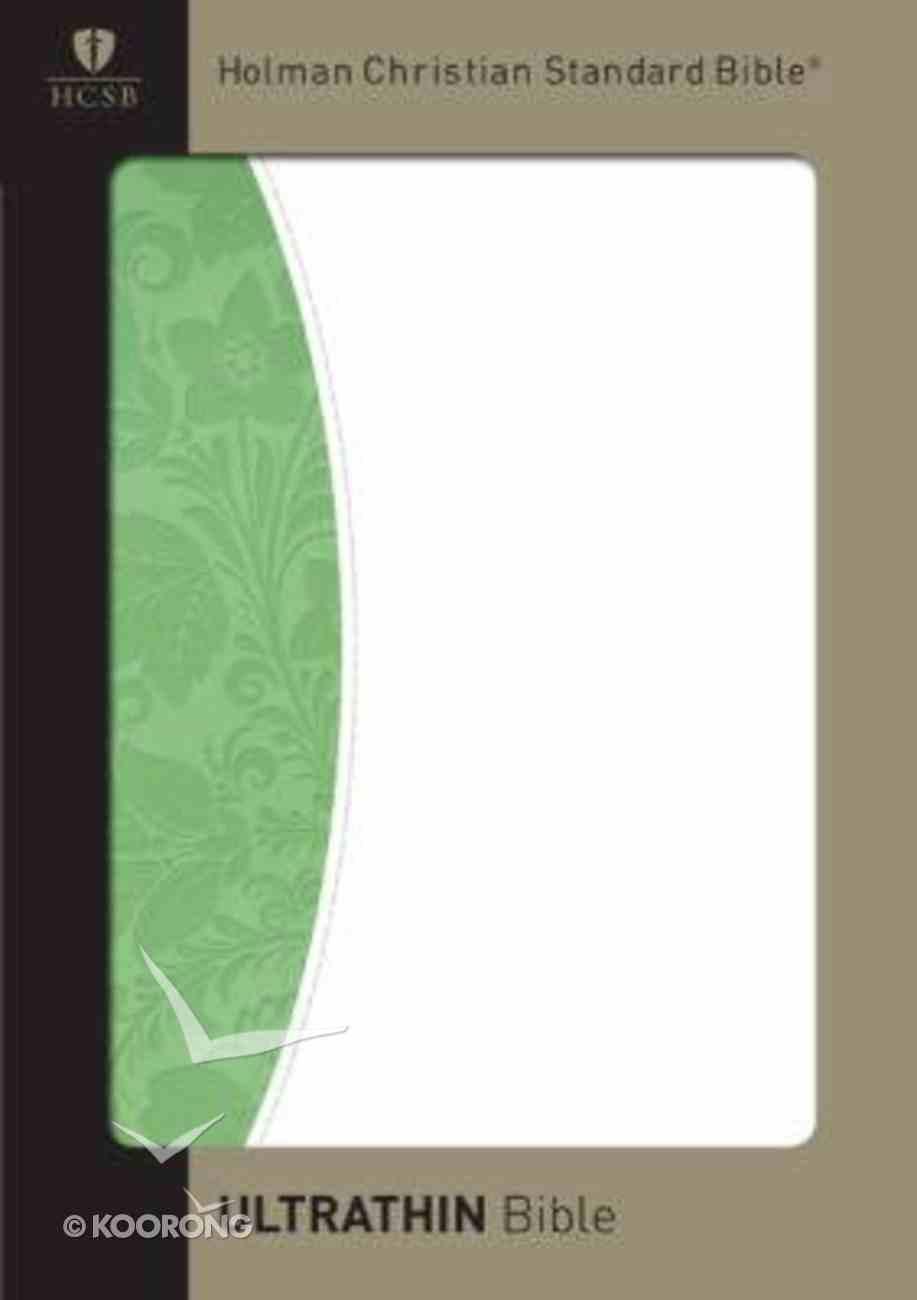 HCSB Ultrathin Bible Green/White Duotone Simulated Leather Imitation Leather
