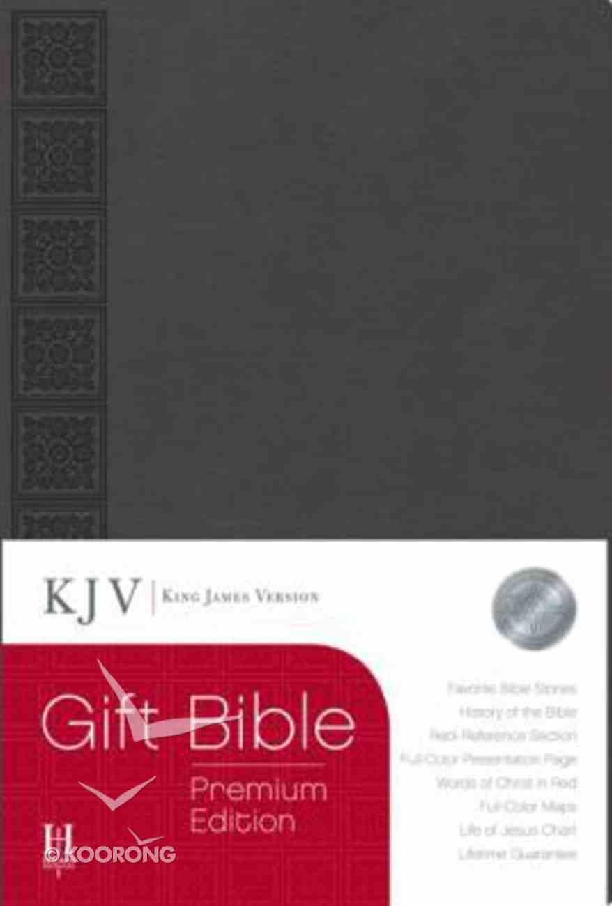 KJV Gift Bible Premium Edition Gray Imitation Leather