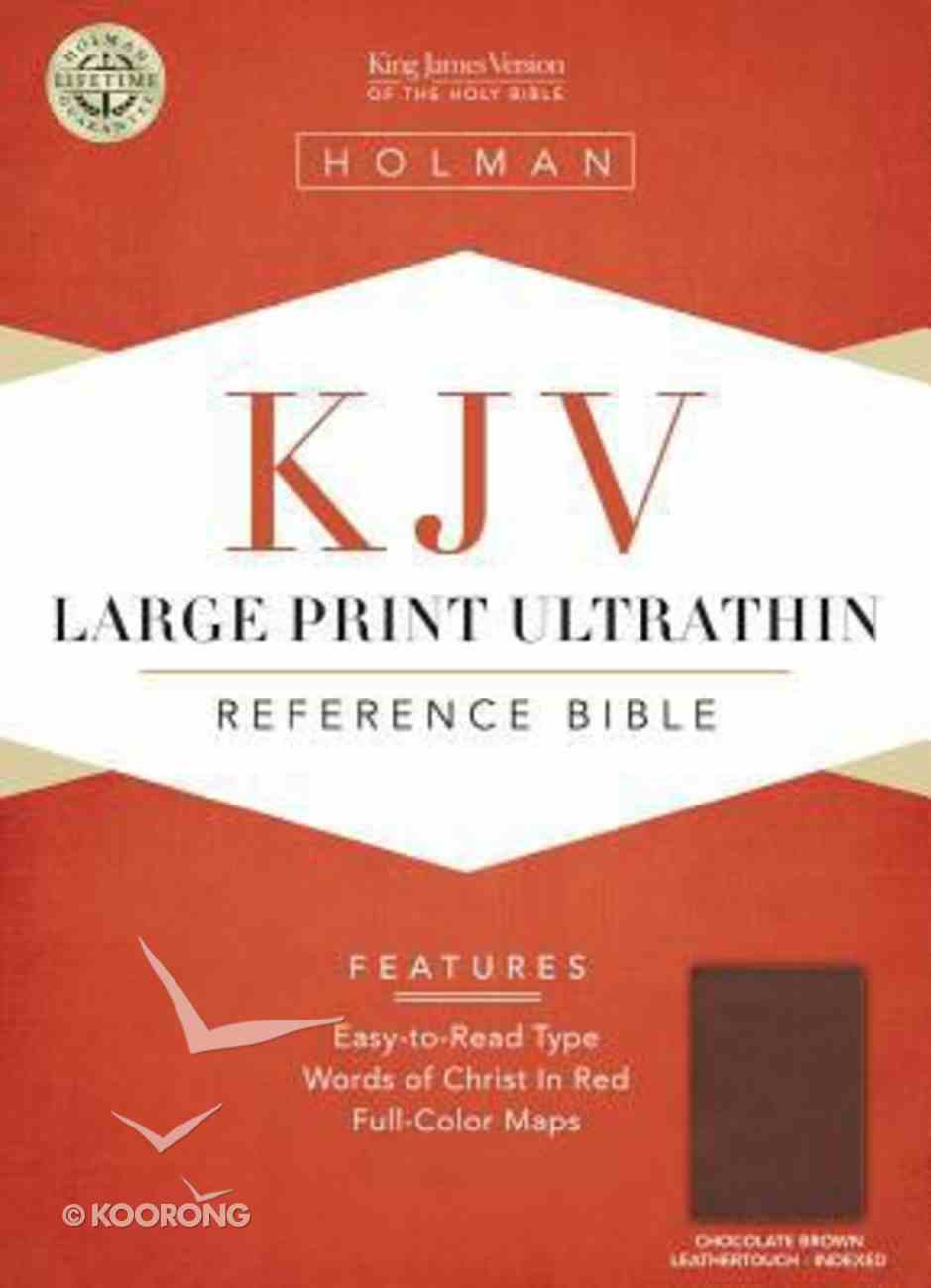 KJV Large Print Ultrathin Reference Bible Chocolate/Brown Indexed Imitation Leather