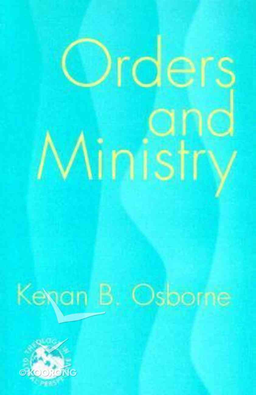 Orders and Ministry Paperback
