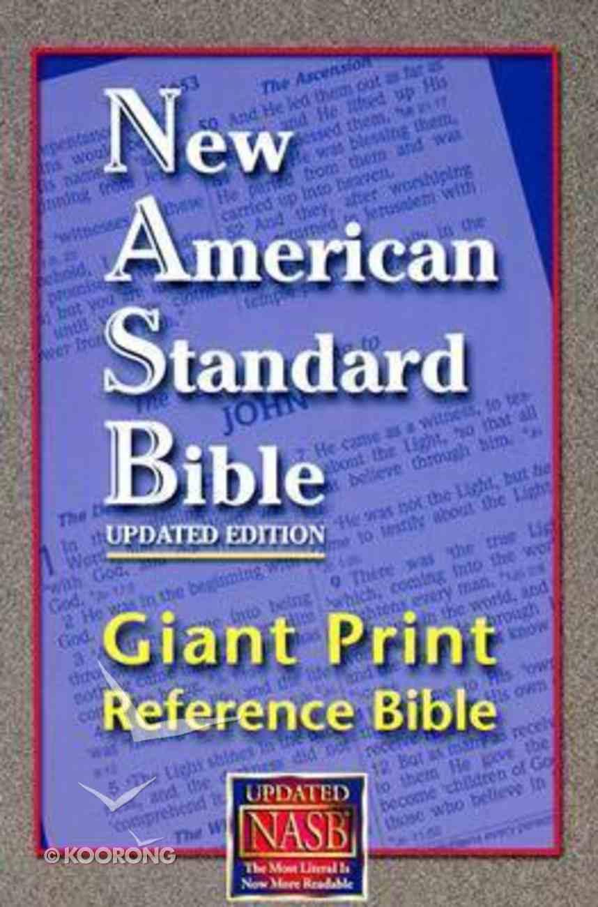 NASB Giant Print Reference Bible Indexed Hardback