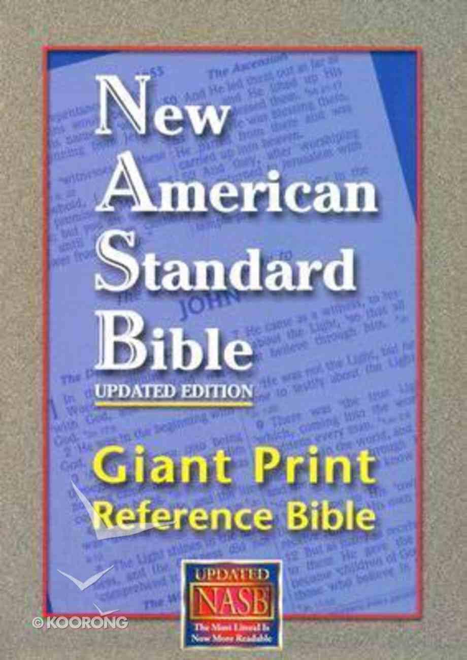 NASB Giant Print Reference Bible Indexed Black Imitation Leather